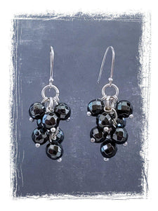 Hematite Earrings - Summer Indigo