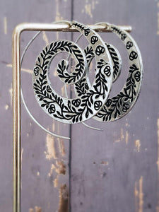 Spiral Hoop Earrings - Summer Indigo