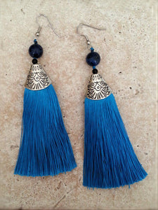 Tassel Earrings - Choose your color - Summer Indigo