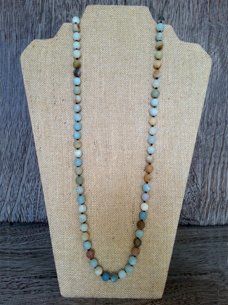 Knotted Semi-precious Stone Necklaces - Summer Indigo