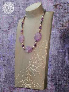 Amethyst and Pearl Necklace - Summer Indigo