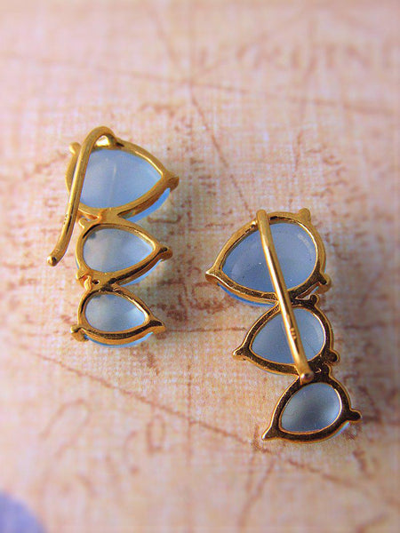 Blue Chalcedony Earrings - Summer Indigo