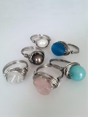 Wire wrapped ring - Choose your favorite