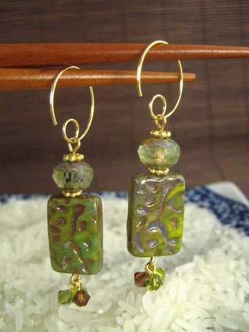 Going Bamboo Tile Earrings - Pick your color