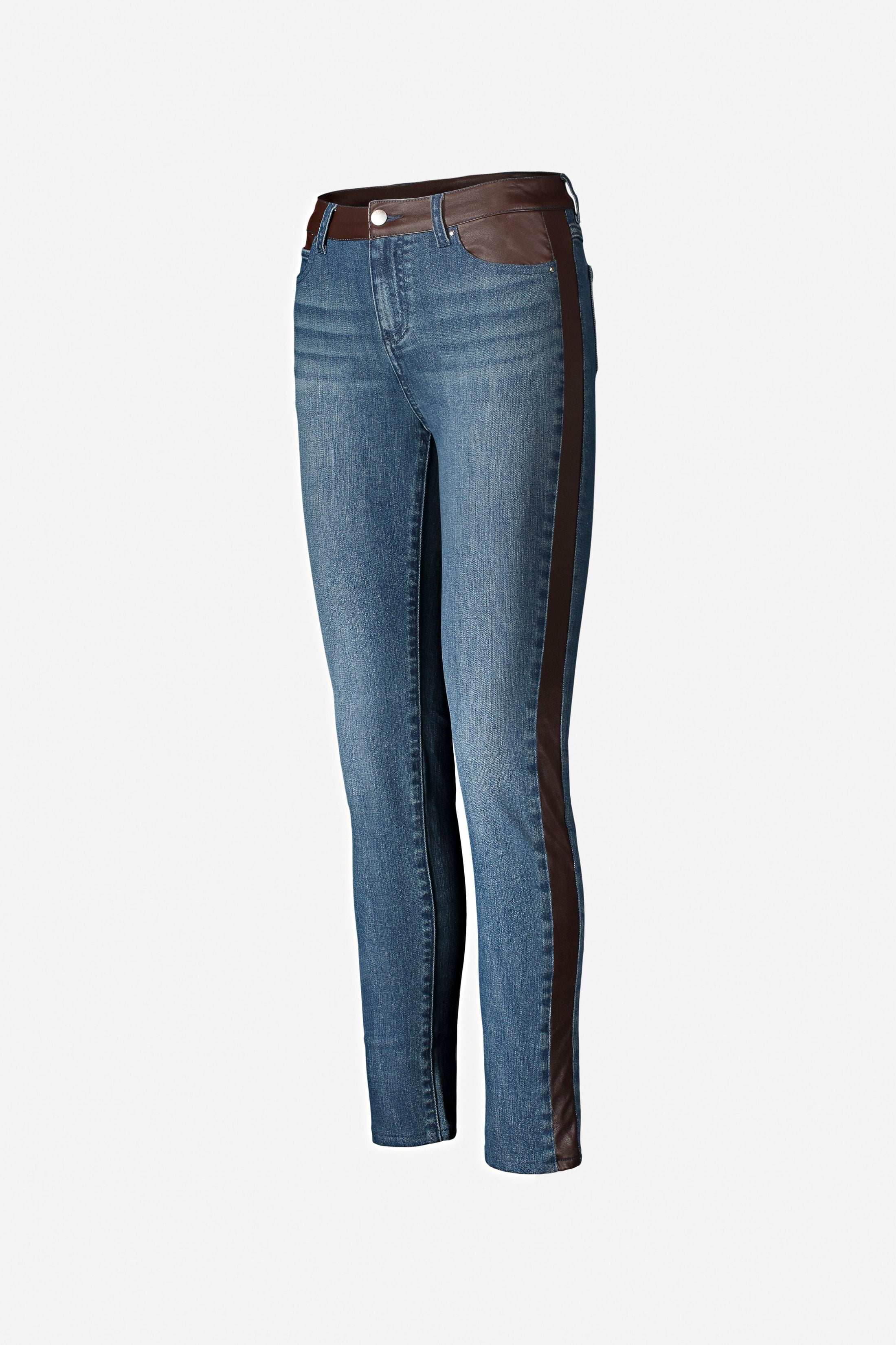ECRU Los Feliz Jean With Leather Inset