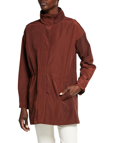 Eileen Fisher Recycled Polyester Anorak Coat