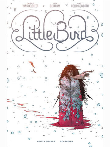 Little Bird with Signed Print by Darcy Van Poelgeest