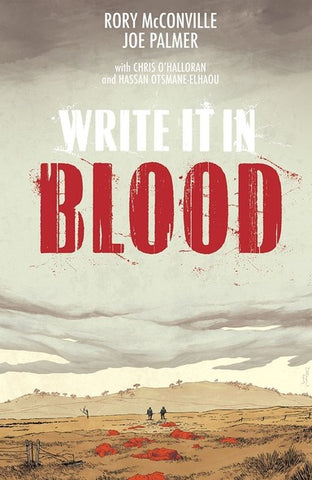 Write It In Blood with OK Comics Signed Book Plate by Rory McConnville and Joe Palmer