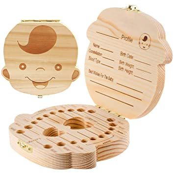 Wooden Baby 'Tooth Fairy' Box