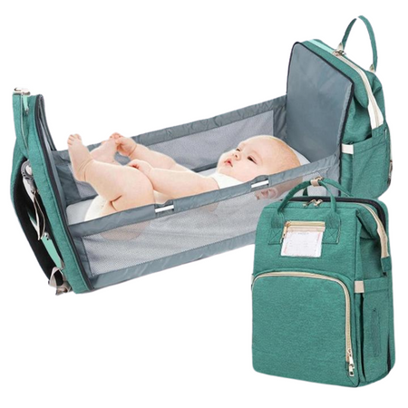 Totel Bag™ 2-in-1 Diaper Bag & Mini Crib