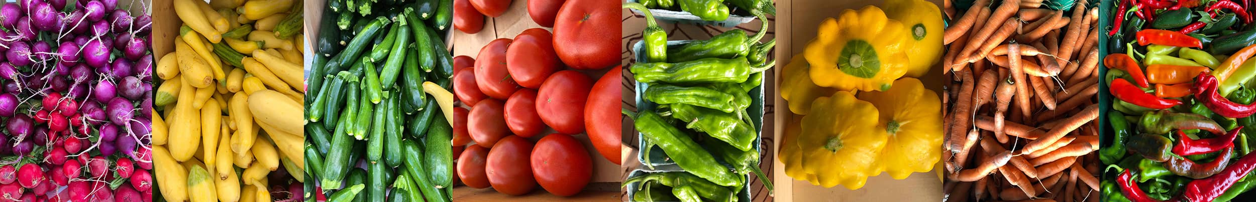collage of fresh vegetables.