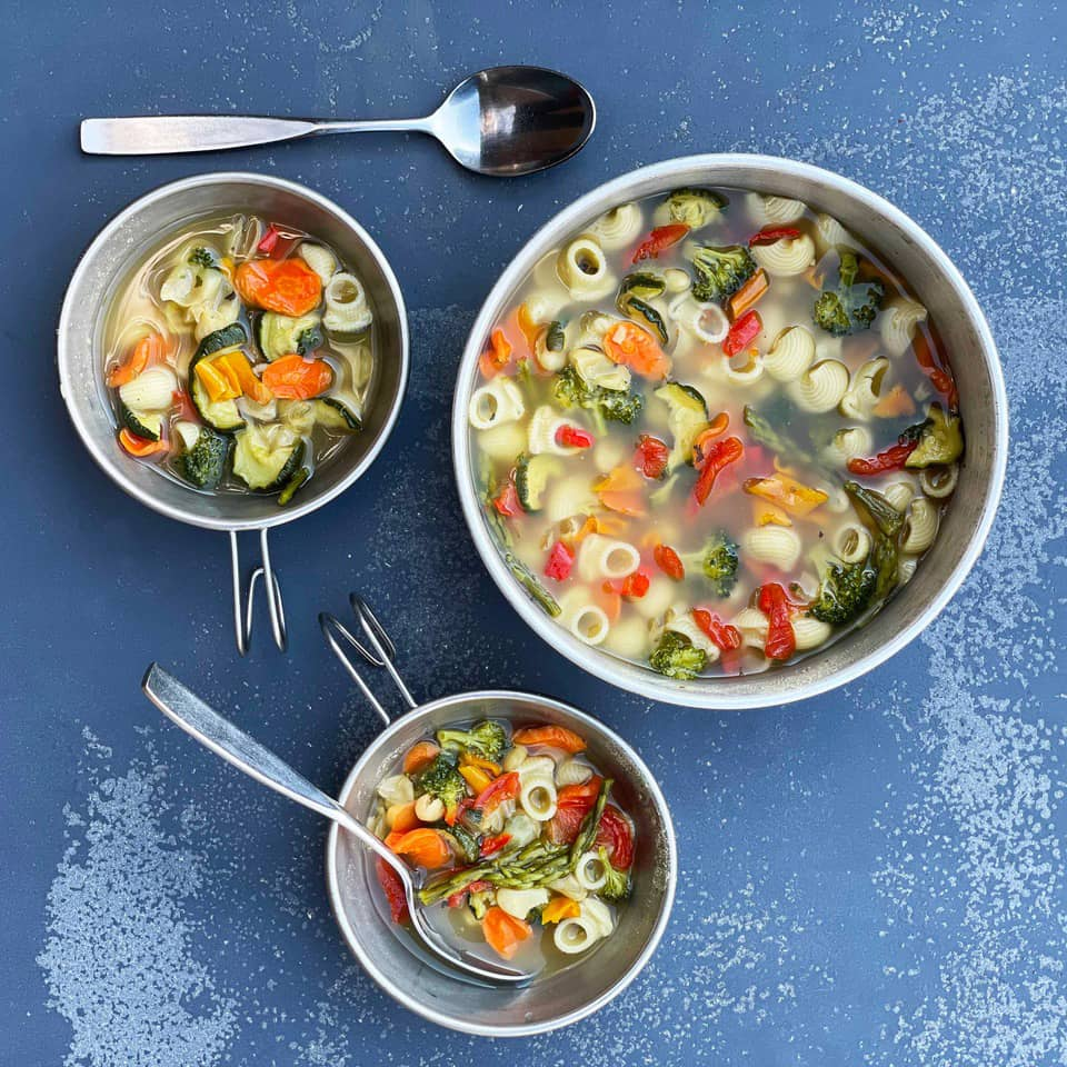 picture of homemade vegetable medley soup soup