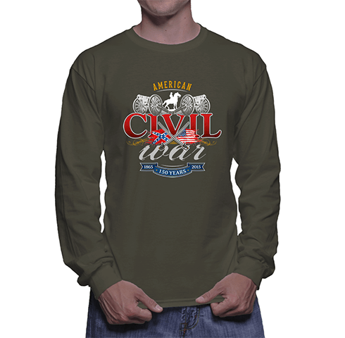 Civil War Swords and Cavalry - Long Sleeve