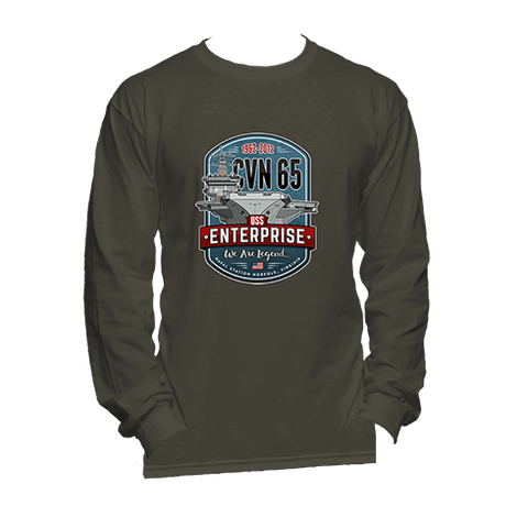 1962 - 2012 CVN-65 USS Enterprise - Long Sleeve