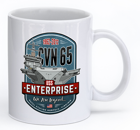 1962 - 2012 CVN-65 USS Enterprise - Mug