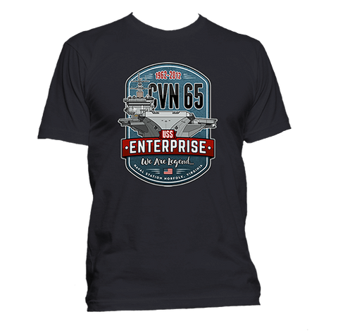 1962 - 2012 CVN-65 USS Enterprise T-Shirt
