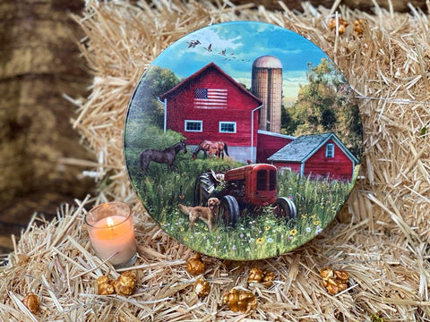 Farm House Tin  ( 1 Gallon Round )