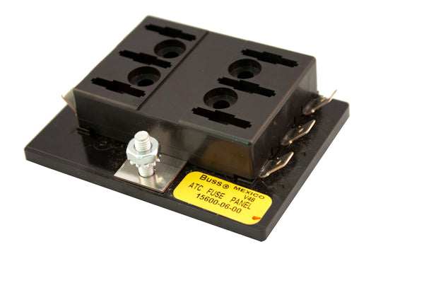 Part # 15600-06-20  (Bussmann Fuse Block for ATOF/ATC Fuses or Blade Type Circuit Breakers. Max Current Rating for all circuits is 100 Amps)