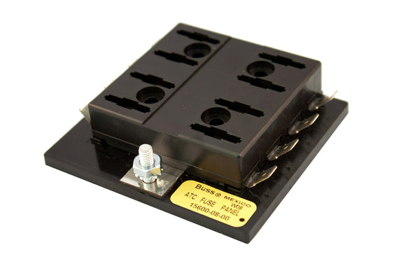 Part # 15600-08-20  (Bussmann Fuse Block for ATOF/ATC Fuses or Blade Type Circuit Breakers. Max Current Rating for all circuits is 100 Amps)