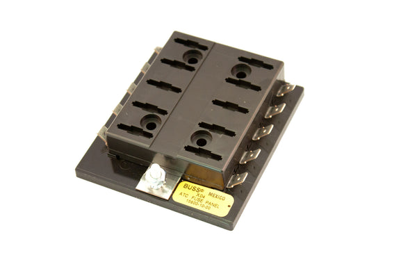 Part # 15600-10-20  (Bussmann Fuse Block for ATOF/ATC Fuses or Blade Type Circuit Breakers.  Max Current Rating for all circuits is 100 Amps)