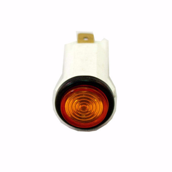 "Part # IL500-A  (.500"" D. Amber, 14V Incandescent, 3/16"" Tabs)"