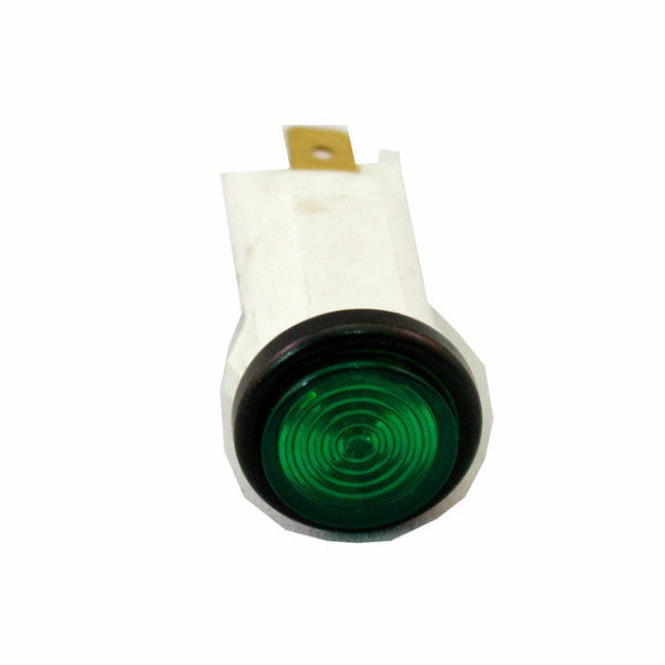 "Part # IL500-G  (.500"" D. Green, 14V Incandescent, 3/16"" Tabs)"