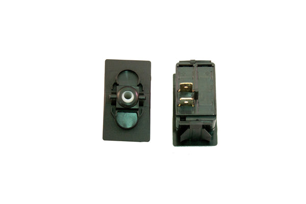 "Part # SB2-11-000-2 (Contura Base, SPST, ON-NONE-OFF, 20A, 12V Rocker Switch, Unlit, (2) .250"" Terminals)"