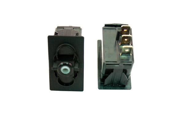 "Part # SB2-23-000-3 (Contura Base, SPDT, ON-NONE-ON, 20A, 12V Rocker Switch, Unlit, (3) .250"" Terminals)"