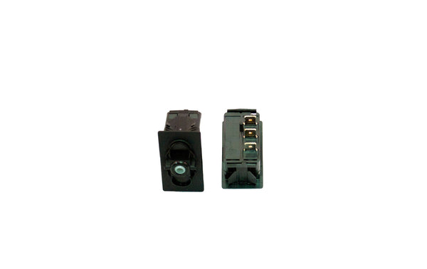 "Part # SB2-24-000-3 (Contura Base, SPDT, ON-OFF-ON, 20A, 12V Rocker Switch, Unlit, (3) .250"" Terminals)"