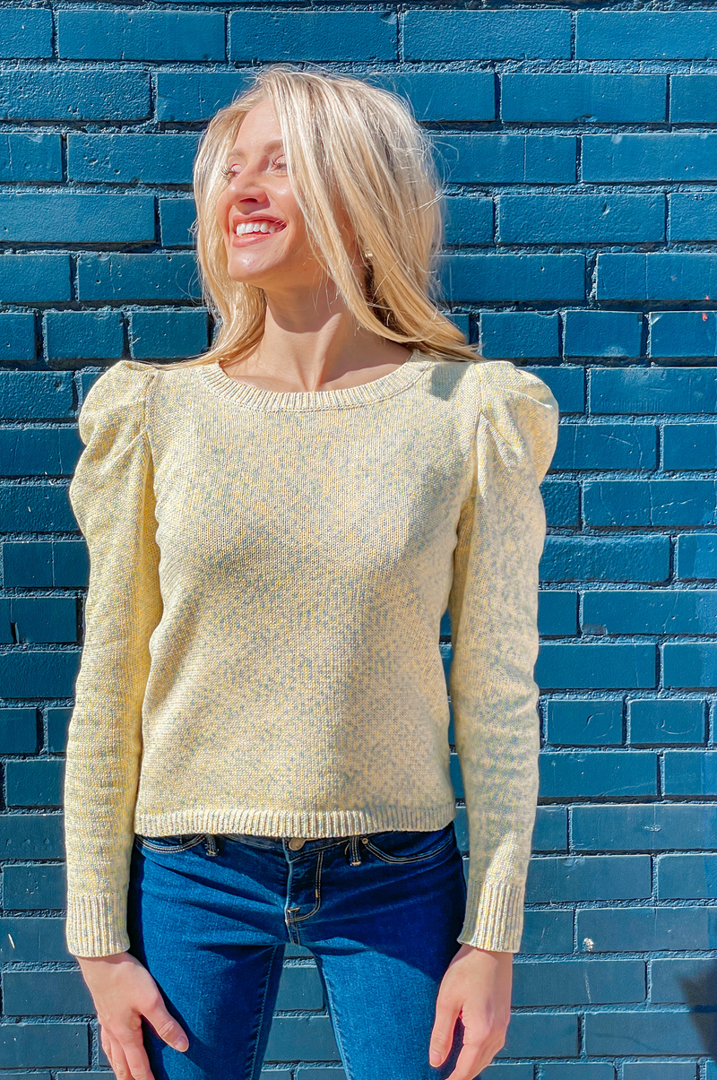 Lemon Confetti Sweater