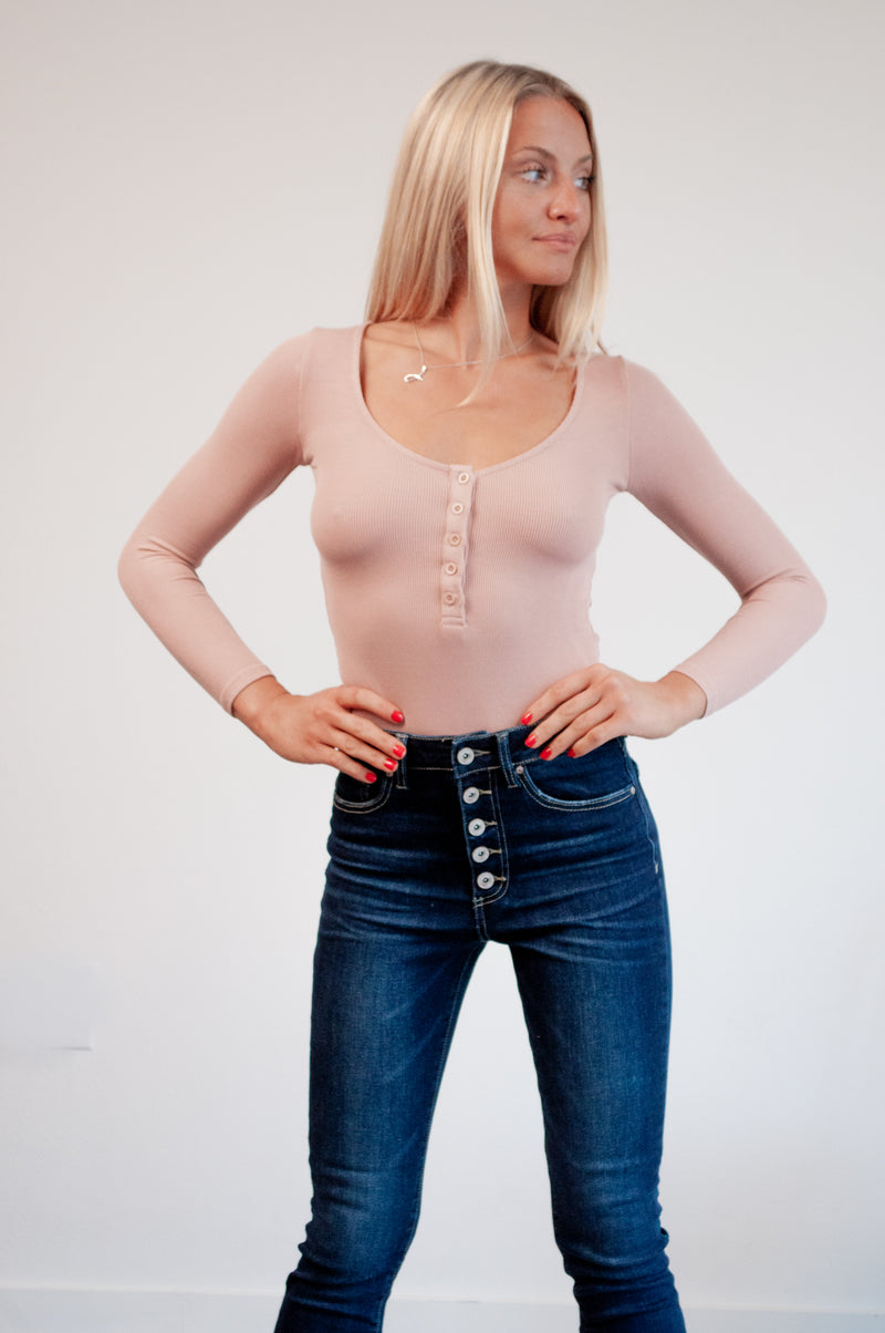 Nude Long Sleeved Bodysuit