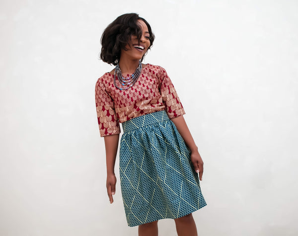 AMINA Midi Skirt - TRIBE 228