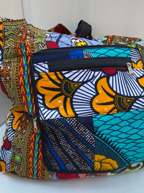 DASHIKI PRINT WALLET and TOTE