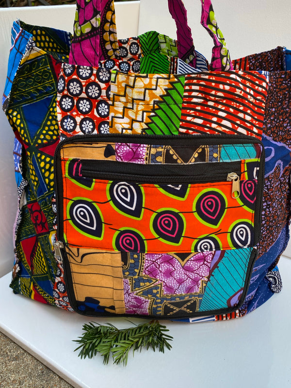ANKARA PRINT WALLET and TOTE