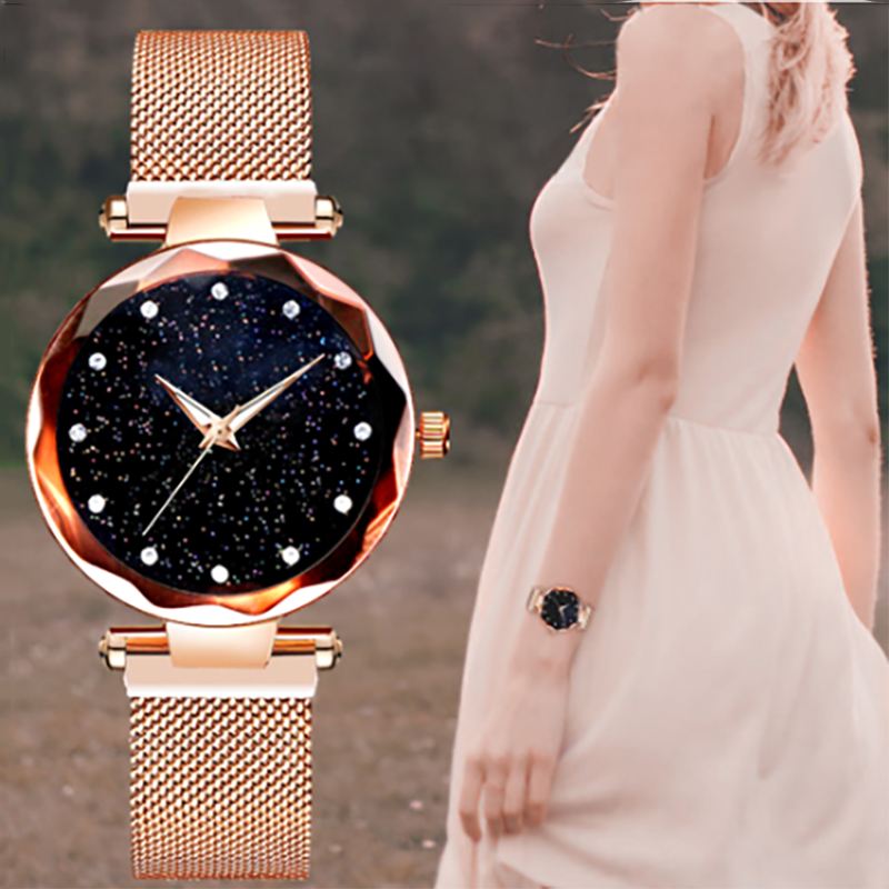 Women Wrist Watch Starry Sky Watch