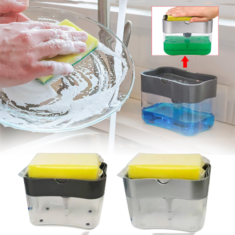 Kitchen Sponge Soap Dispenser Pump
