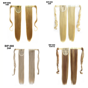 (Factory Outlet) Straight Clip In Hair Tail False Hair
