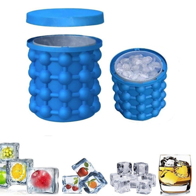 Portable Bucket Wine Ice Cooler Beer Cube