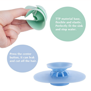 Anti-clogging Silicone Floor Drain Hair Stopper