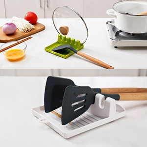 Kitchen Soup Spoon Mat Multifunctional Spatula Spoon Rack