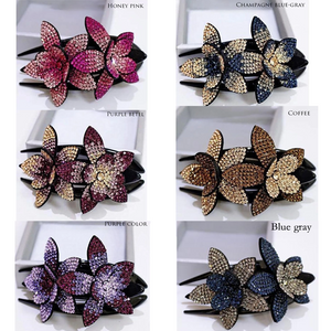 Women Rhinestone Flower Hairpin