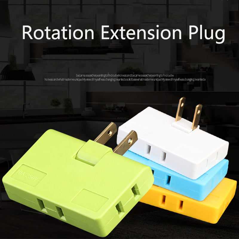3PCS 1 IN 3 Rotation Conversion Plug