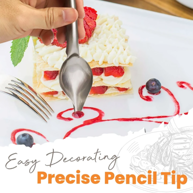 Portable Sauce Painting Pencil Spoon