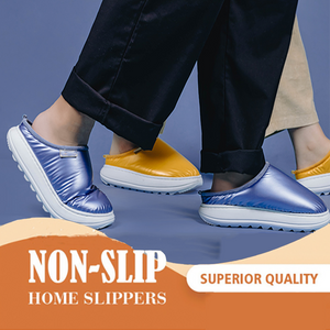 Down Warm Thick-soled Slippers
