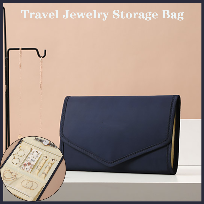 Foldable Velvet Travel Accessory Pouch