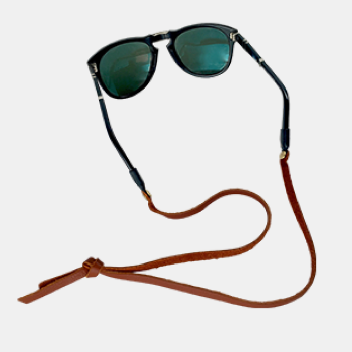 Heritage Sounders Leather Sunglass Strap - Chestnut