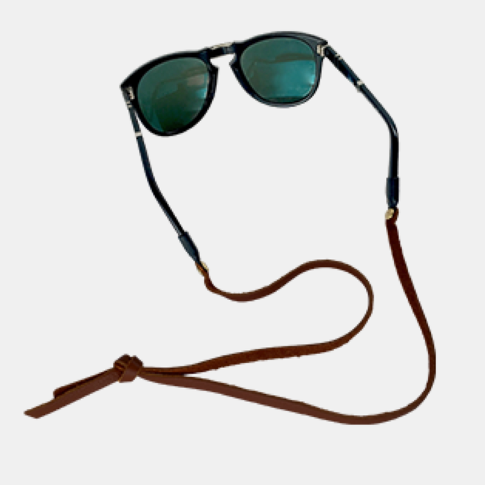 Heritage Leather Sunglass Strap - Dark Brown