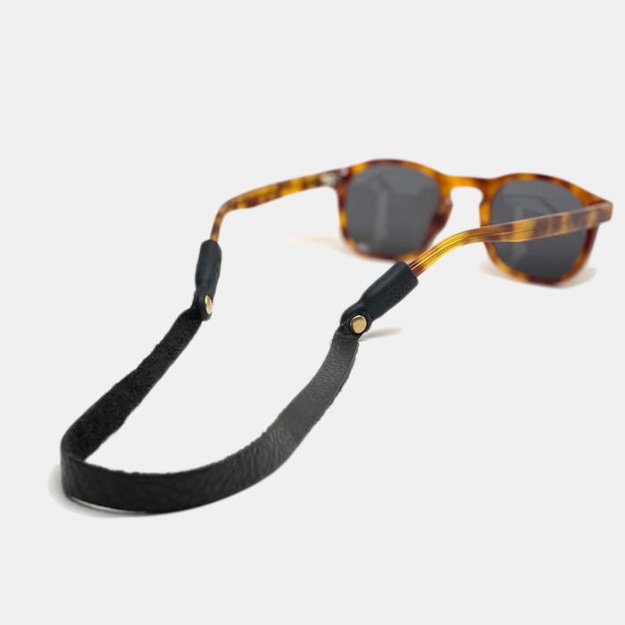 Montauk Sounders Leather Sunglass Strap - Black