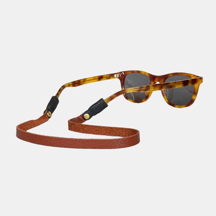 Montauk Sounders Leather Sunglass Strap - Chestnut