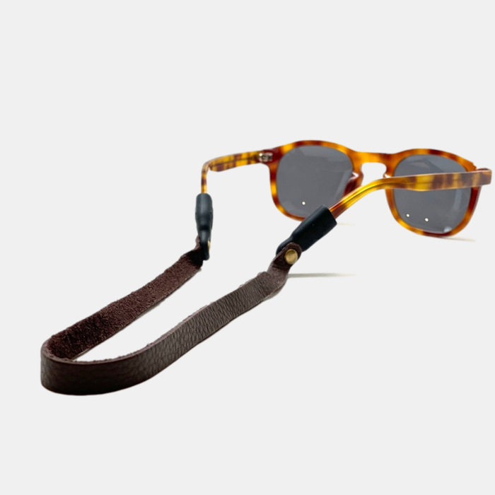 Montauk Sounders Leather Sunglass Strap - Dark Brown